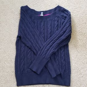 JCPENNEY Navy cable sweater